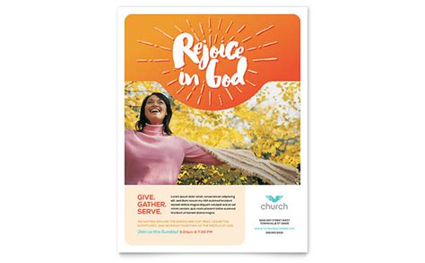 church flyer template design