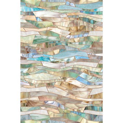 Artscape Montage Decorative Window by Artscape 24 In X 36 In Terrazzo Decorative Window