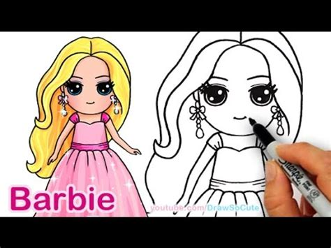 draw barbie cute step  step draw  cute girl