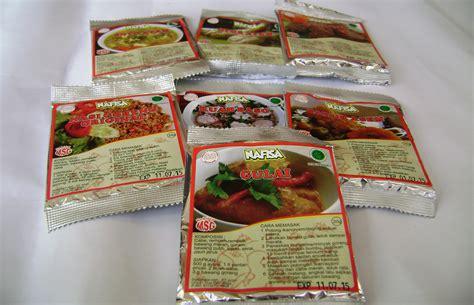bumbu instant nafisa non msg bumbu nafisa bumbu nafisa sehat enak halal dan praktis