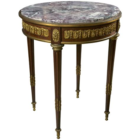 stone top side table linke quality marble top end or side table at 1stdibs