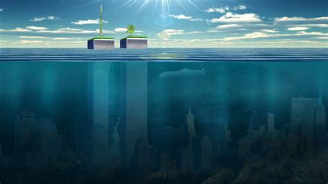 york buildings skyscrapers underwater ocean wallpaper