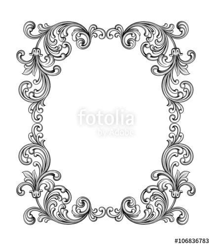 baroque powerpoint template free вектор vintage baroque victorian frame border monogram