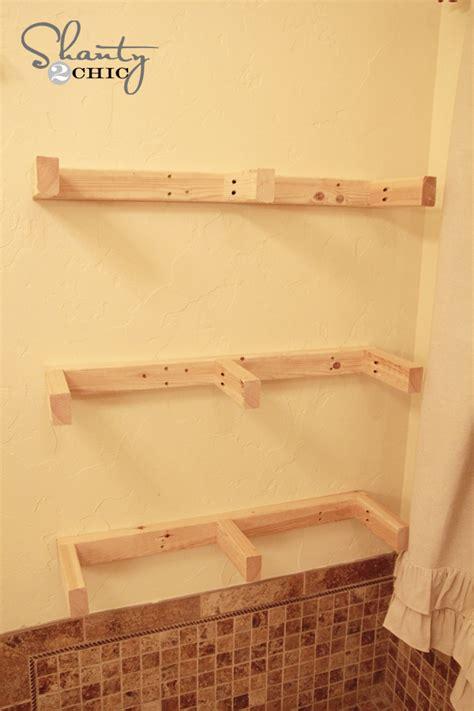 how to build a shelf easy diy floating shelves floating shelf tutorial