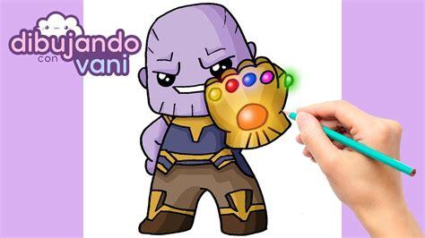 Como dibujar a Thanos paso a paso Dibujos para dibujar