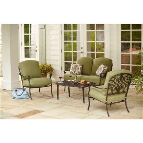 hton bay edington 4 patio seating set with