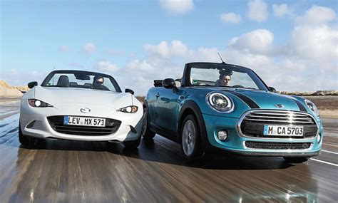 mx 5 cabrio mazda mx 5 mini cabrio vergleichstest autozeitung de
