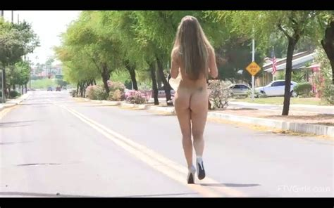 Blond Girl Walking Totally Nude And Using Sex Toys In