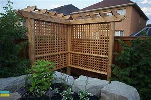 Interlocking patio, fiberglass pool, landscaping, cedar