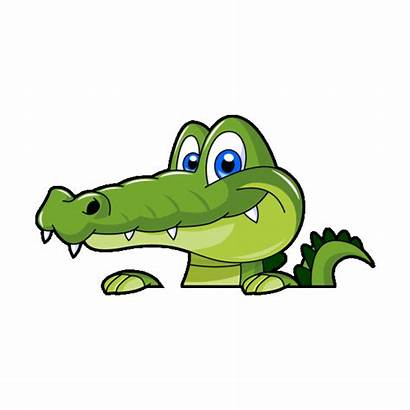 Alligator Mascot Cartoon Clipart Transparent Sticker Crocodile