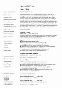 sous chef resume 1 picture to pin on pinterest pinsdaddy With chef resume examples