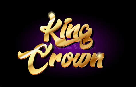 king typography gold crown text logo stock vector illustration  letter hipster