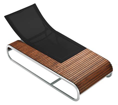 chaise longue en teck tandem reclining chair teak version teck black fabric