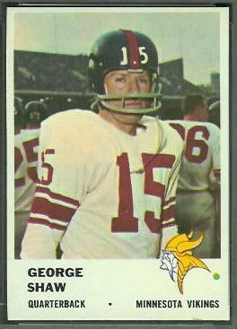 george shaw  fleer  vintage football card gallery