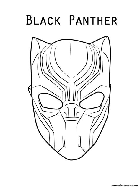 marvel  black panther mask coloring pages printable