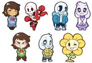 Undertale Character Stickers