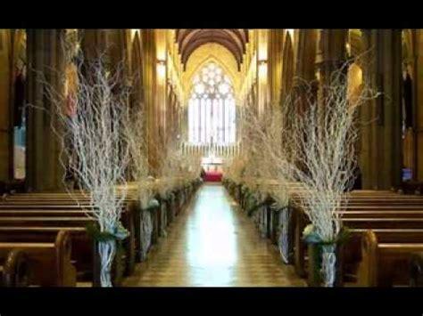 simple church wedding decor ideas youtube