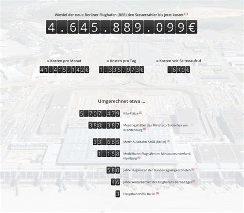 Flughafen Berlin (BER) ☞ Kosten