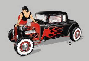 Hot Rod And Girl By Cryingbear On Deviantart