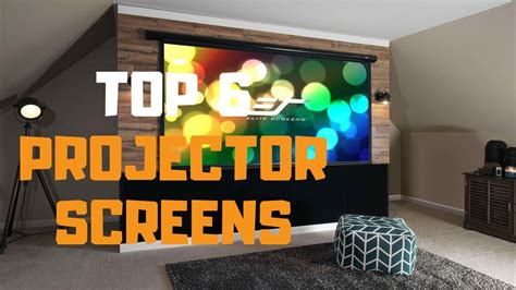 Best Projector Screen in 2019 Top 6 Projector Screens