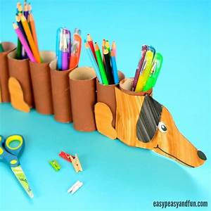 Dog Paper Roll Pencil Holder - Easy Peasy and Fun