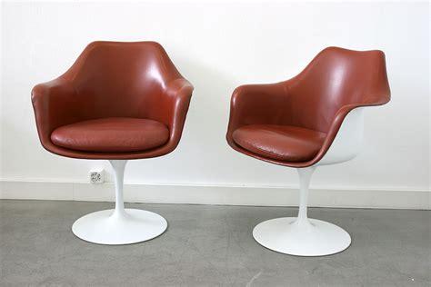 chaise tulipe a vendre saarinen 6 fauteuils tulipe cuir knoll lausanne suisse