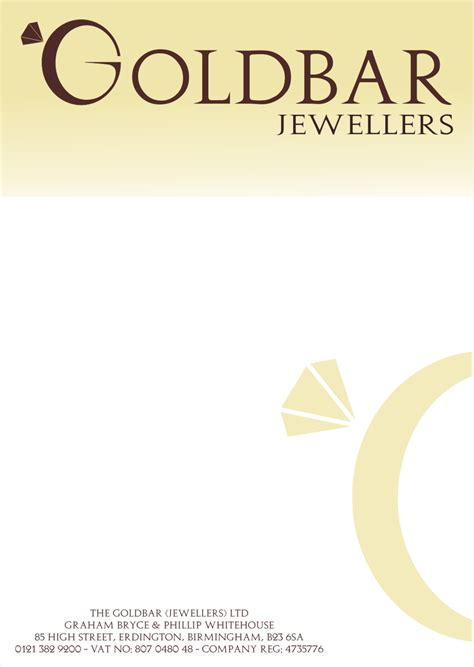 Goldbar Jewellery Letterhead. Graphic Design Cover Letter Template Word. Curriculum Vitae Militaire Exemple. Cover Letter For Customer Service Representative Position. Resume Examples And Tips. Objective For Resume Housekeeping. Letter Format Japanese. Cover Letter Nursing Assistant Examples. Letter Of Resignation With Reason