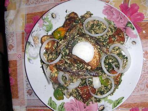 recette de cuisine beninoise recette de sauce gboma au fromage poisson