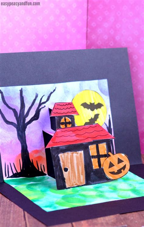 halloween pop  card template easy peasy  fun