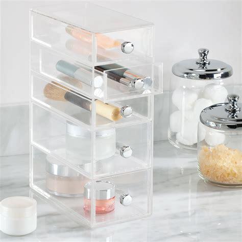 boite  tiroirs transparente rangement maquillage