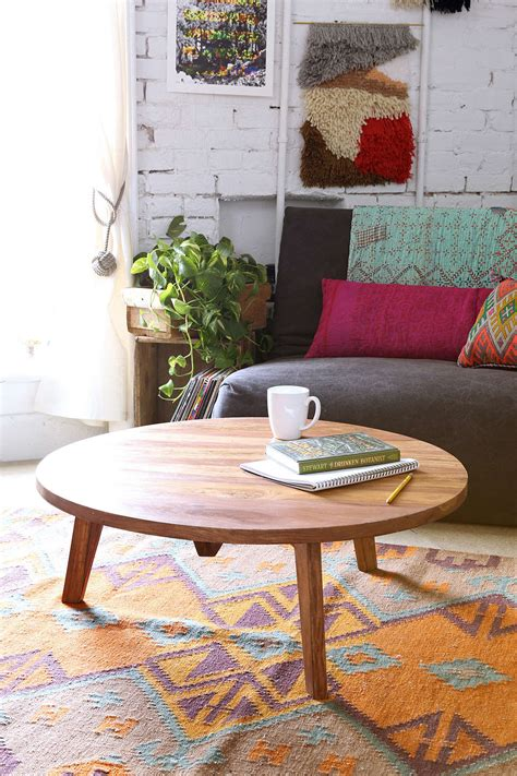 We're always getting questions about coffee i have a small living room and my two chairs have ottomans. Modern Round Coffee Table Ideas 2 by Urban Outfitters - Hupehome