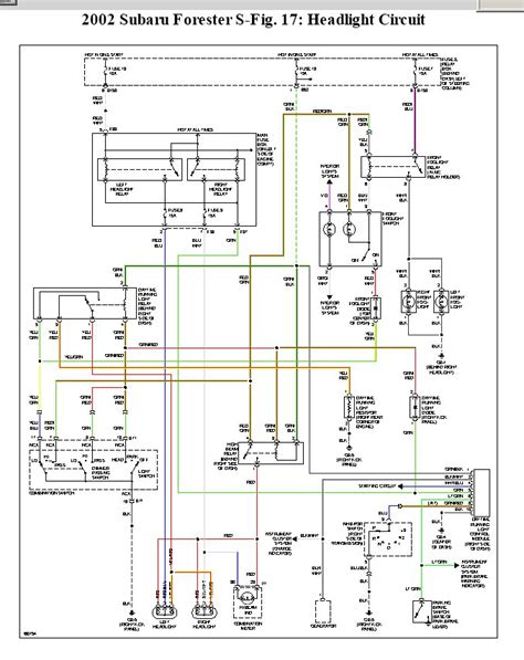 Subaru Ignition Switch Wiring Diagram by 2002 Subaru Forester All 4 Parking Lights Stay On Even