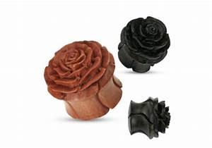 Fleur En Bois : plug fleur en bois aia piercing ~ Dallasstarsshop.com Idées de Décoration