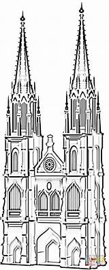Cathedral Famous Coloring Koln Pages Germany Cologne Printable Dom Supercoloring Koelner Buildings Drawing Crafts Coloringpages101 Ausmalbilder sketch template