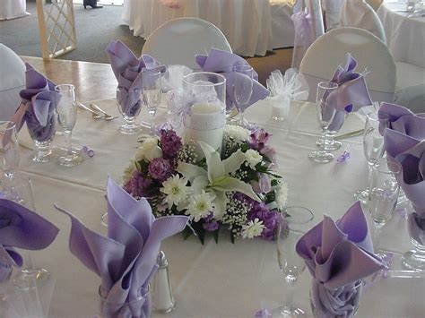 Fair Picture Of Purple Nuance Wedding Table
