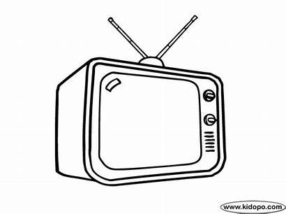 Television Coloring Antenna Kidopo Pages