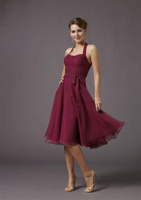 chiffon bridesmaid dresses 100 scooped halter knee length sash chiffon a line bridesmaid dress prlog