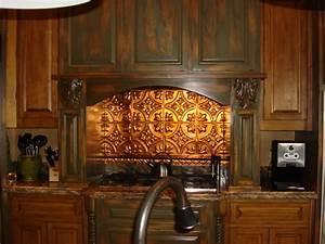 Tin Backsplash Kitchen Backsplashes Rustic Kitchen
