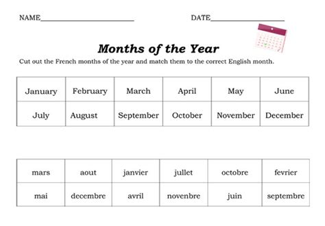 7 best images of months worksheets free months in order by number months and seasons