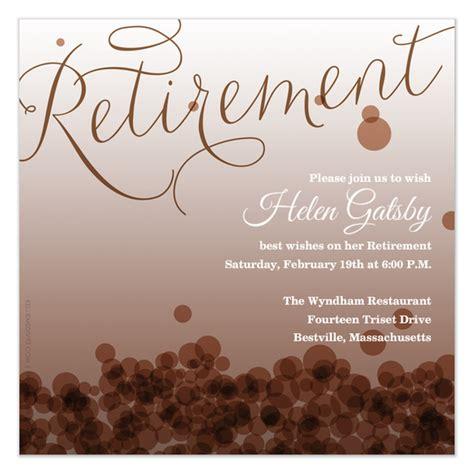 retirement invitations cards  pinggcom
