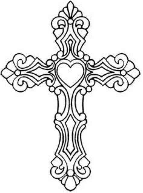 Pin by Sheri Powell on Mom's Birthday Cross | Cross coloring page, Cross drawing, Coloring pages