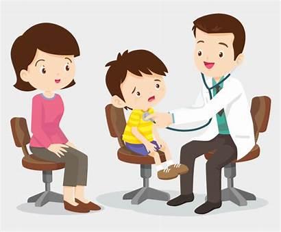 Clipart Child Shot Doctor Mom Pediatrics Vaccine