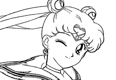 Usagi Tsukino Winking Eye In Sailor Moon Coloring Page