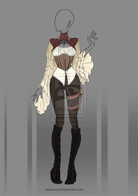 (CLOSED) Adoptable Outfit Auction 16 by Risoluce.deviantart.com on @DeviantArt   Amazing Designs ...
