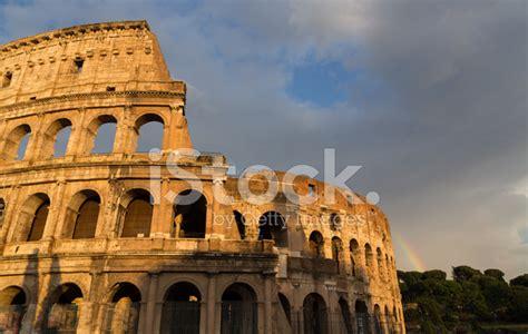 Free Colosseum In Rome by Colosseum In Rome By Day With Rainbow Stock Photos