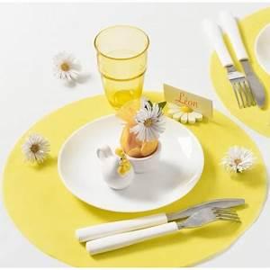 Set De Table Jaune : set de table rond jaune en intiss les 50 achat sets de table ronds ~ Teatrodelosmanantiales.com Idées de Décoration