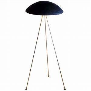 Tall buddy floor lamp with concrete noggin and brass for 7 foot tall floor lamp