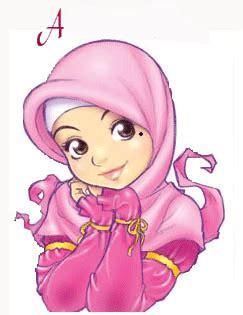 clip jilbab gambar kartun muslimah cantik berhijab animasi bergerak
