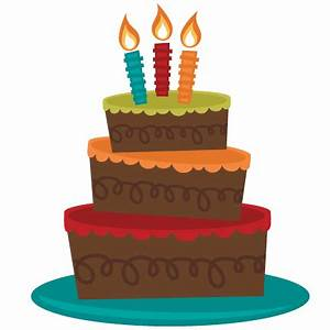 3 Tiered Birthday Cake SVG cut file for cutting machines ...