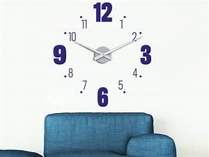 Große Uhr Wand : wandtattoo uhr gro e und kleine zahlen klebeheld de ~ Indierocktalk.com Haus und Dekorationen